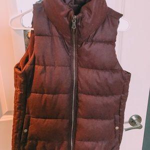 Old Navy maroon puffer vest